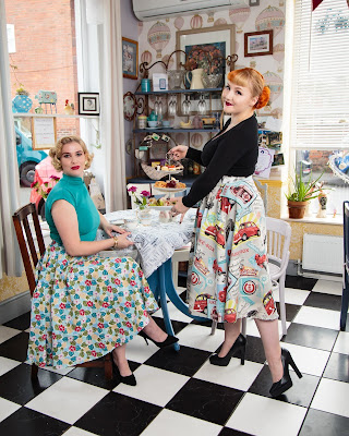 How to dress like a pinup girl, pinup shop, pinup skirts, vintage pinup wear, rock chic fabric