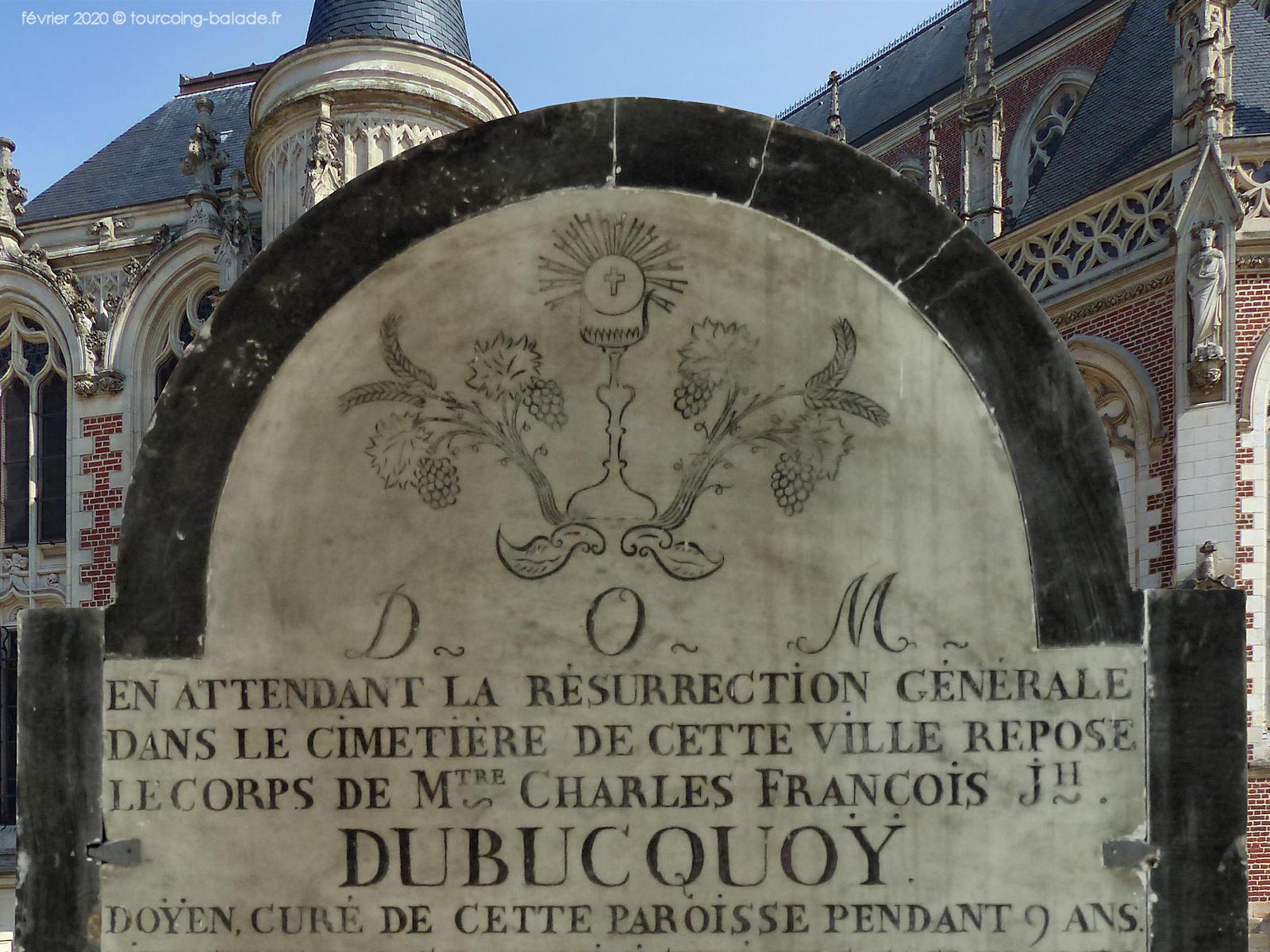 Stèle Dubucquoy, église Saint Christophe, Tourcoing