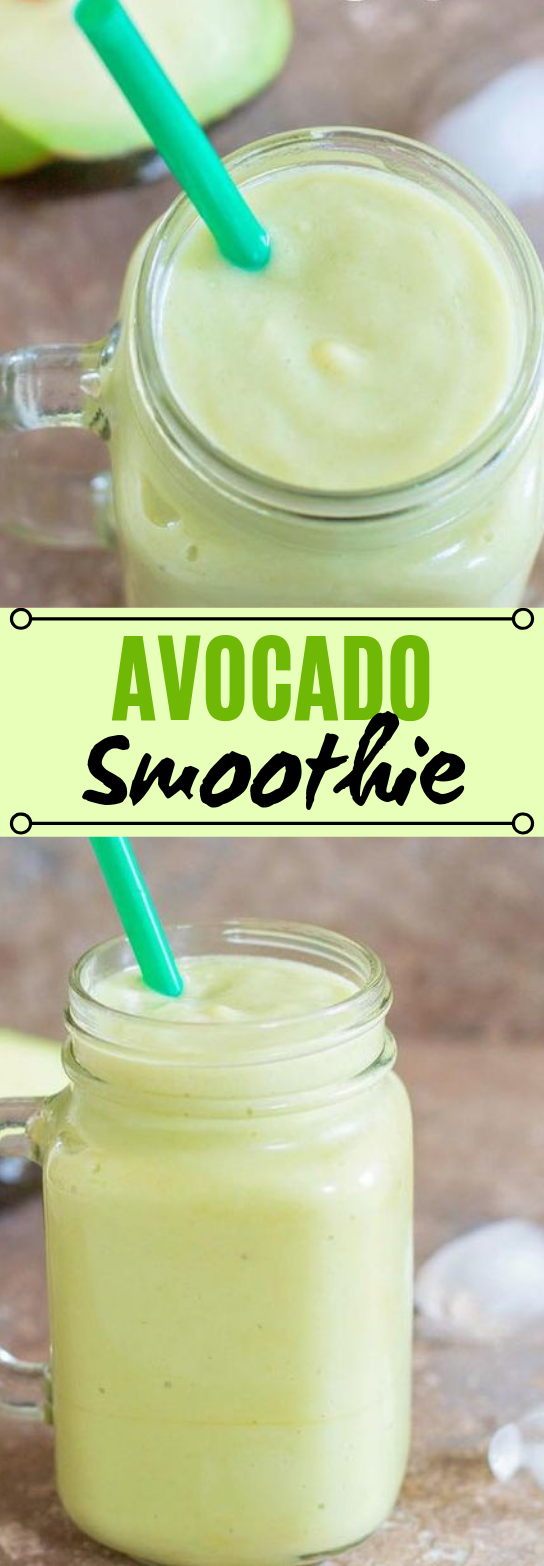 Avocado & Banana Smoothie #healthy #drinks