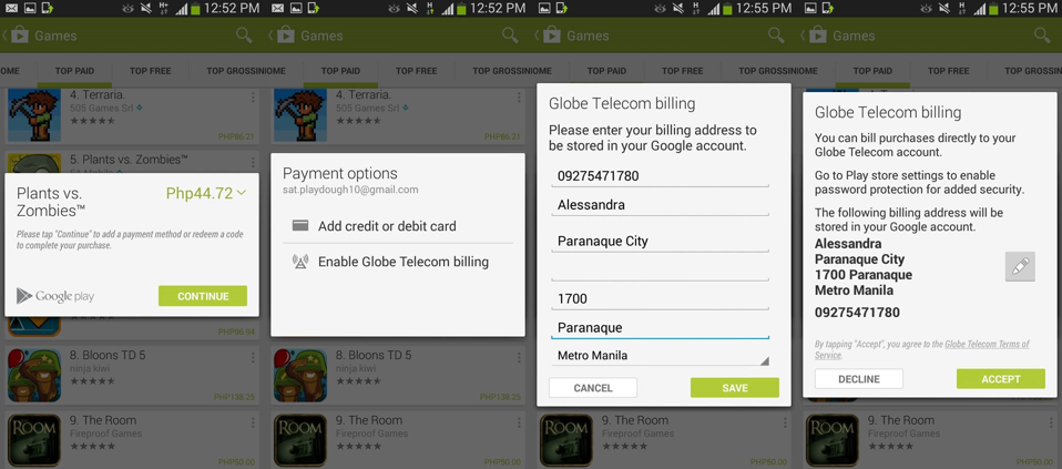 Globe offers Direct Carrier Billing