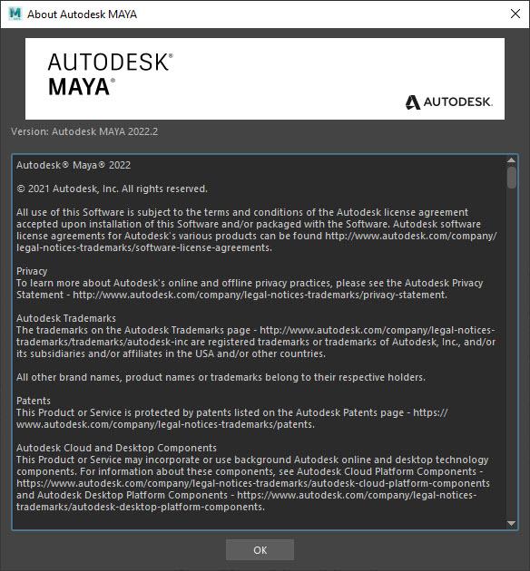 Autodesk Maya 2022.2