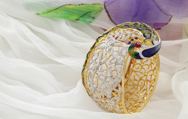 Entice Jewelry Akshaya Tritaya Collection Peacock Cuff