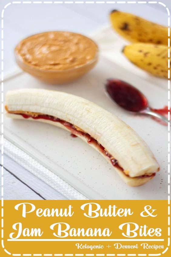 These vegan Peanut Butter Jam Banana Bites are the healthiest snacks ever Peanut Butter & Jam Banana Bites