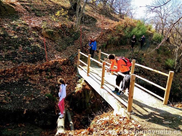 Puente en la ruta de senderismo de los castaños Parauta