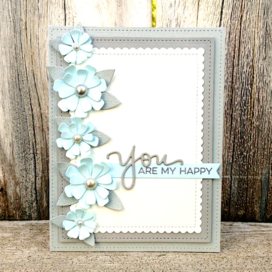 Essential Sentiments stamp set and Stitched Mini Scallop Rectangle STAX Die-namics  - Stephanie Jones #mftstamps