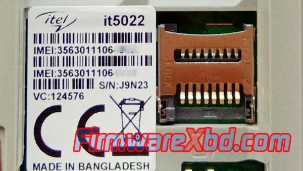 Itel it5022 Flash File Download MT6261 Original firmware