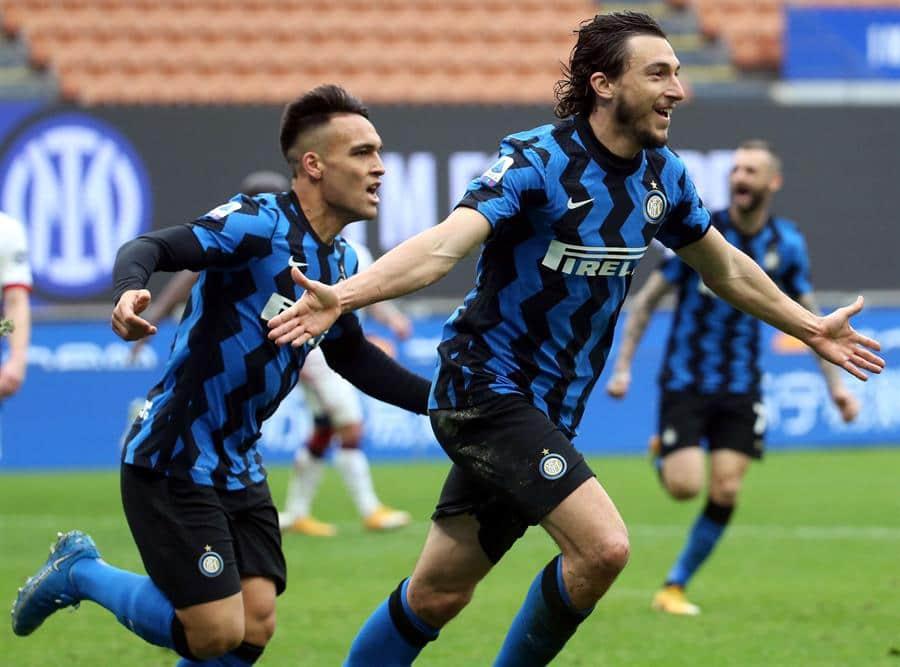 Con Lautaro Martínez desde el banco, Inter vence a Cagliari y sigue firme su camino hacia el título