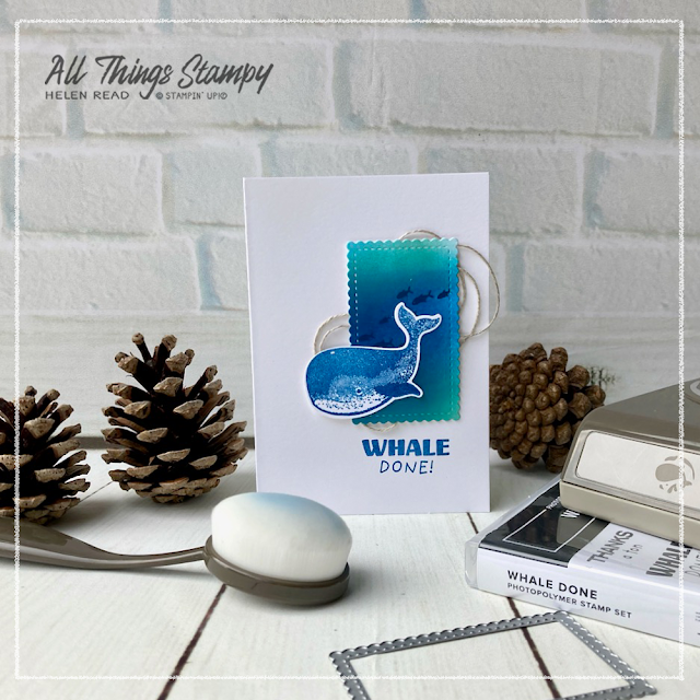 Whale Done Stampin Up card ideas Demonstrator Derbyshire