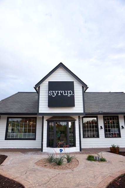 Front view of Syrup Restaurant in OKC