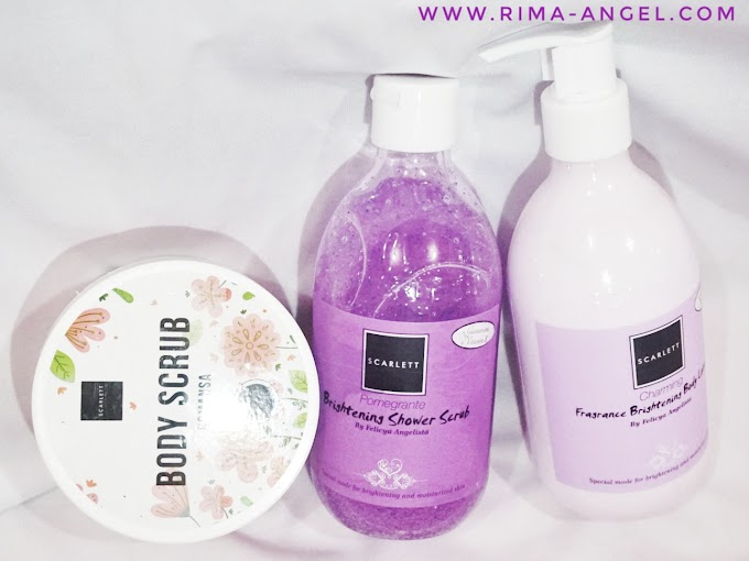 Review Scarlett Whitening Body Scrub, Shower Scrub & Body Lotion