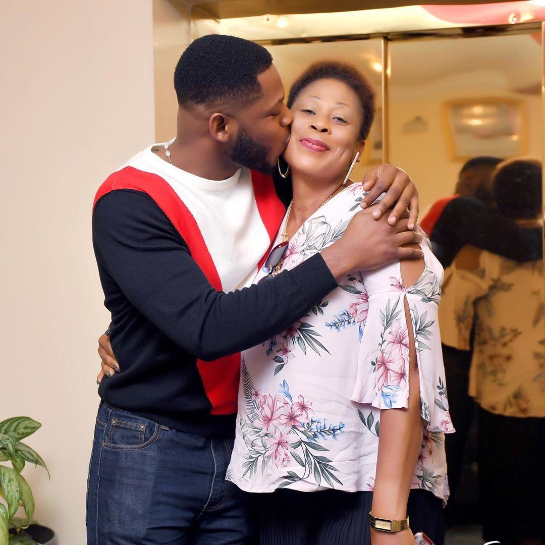 Bbnaija Frodd Celebrates His Mum With Heartwarming Photos As She Clocks 50