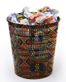 Beautiful on the outside, but rotten on the inside, dressed up trash can African Proverbs