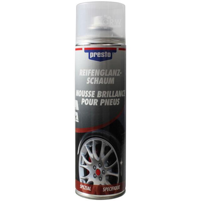 Presto Tire Gloss Foam giúp làm sạch và chăm sóc lốp xe dễ dàng