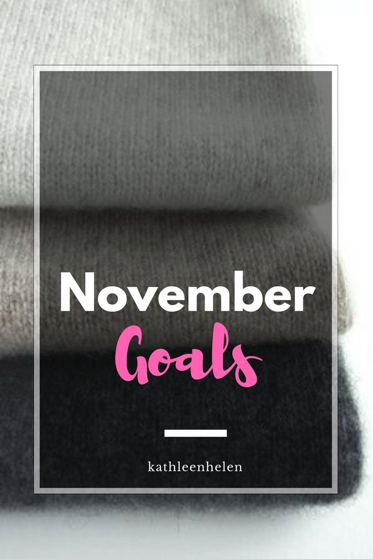 November Goals   kathleenhelen