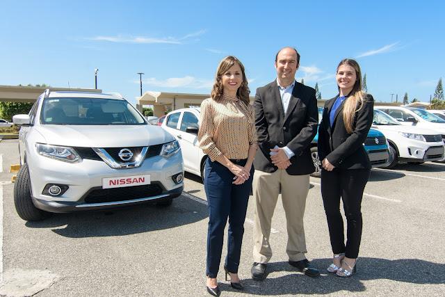 Ejecutivos de Enterprise Rent A Car. Analie Prieto, José Muñiz y Michelle Geara.