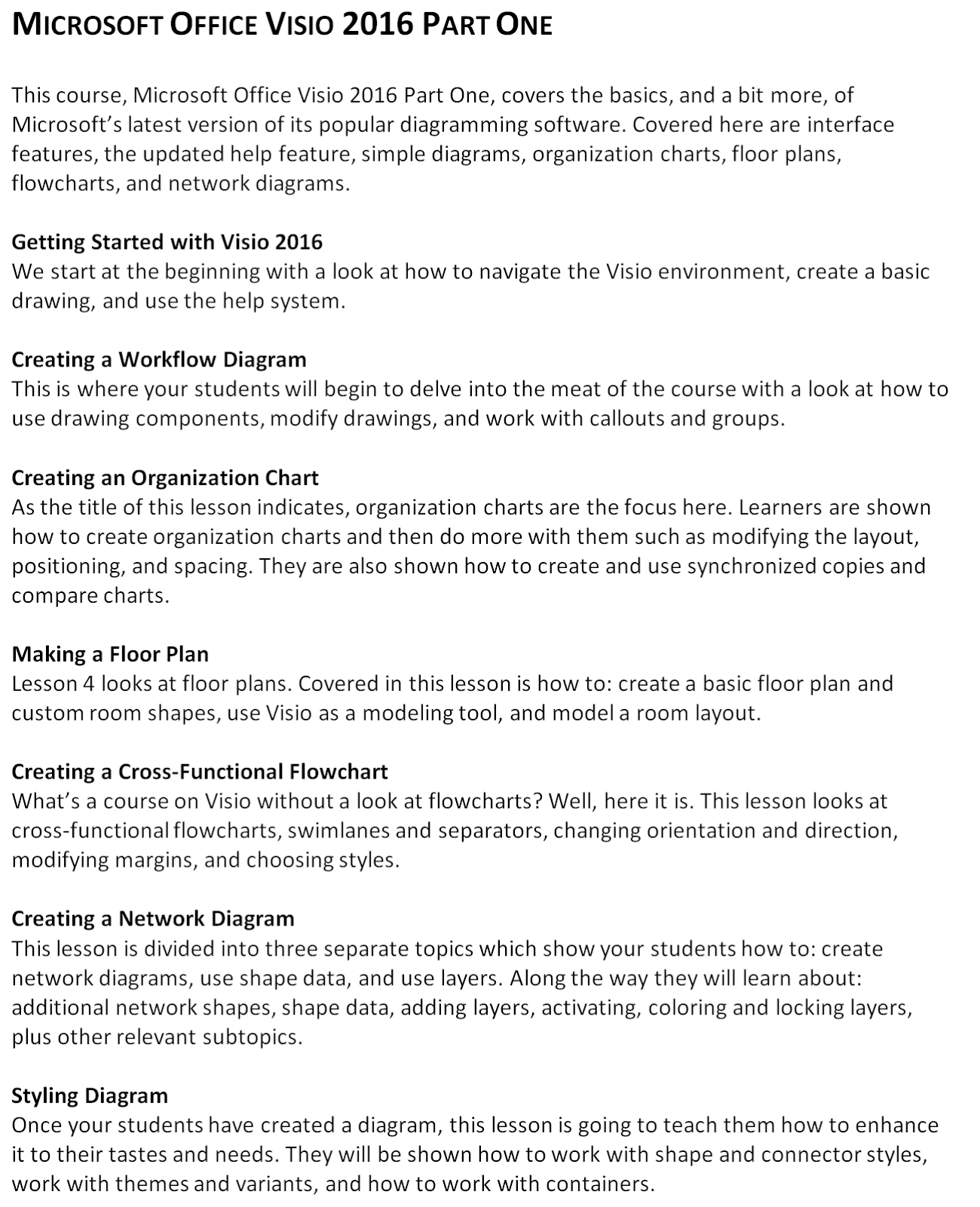 Mouse Training London Ltd: Microsoft Office - Visio 2016 Part 1