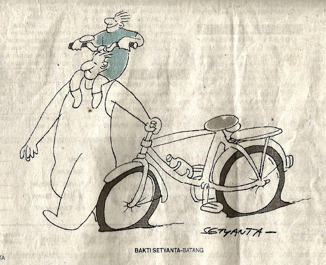 Kartun sepeda karya Bakti Setyanta