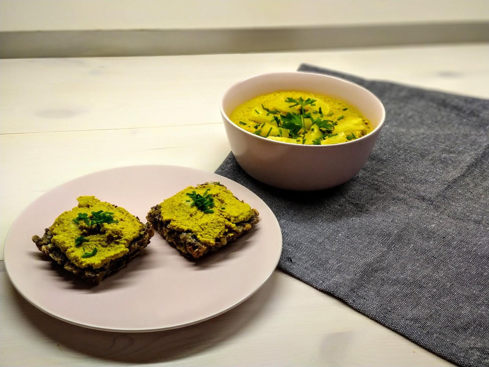 Pyszna wegańska pasta słonecznikowa z curry i ananasem - do pieczywa