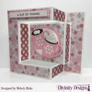 Stamp/Die Duos: Perk Up, Cocoa & Coffee, Tri-Fold Card with Layers, Circles, Paper Collection: Snowflake Season