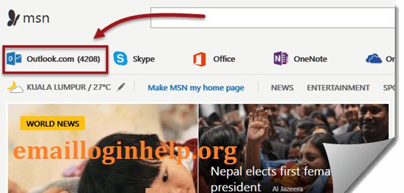 Msn homepage sign in