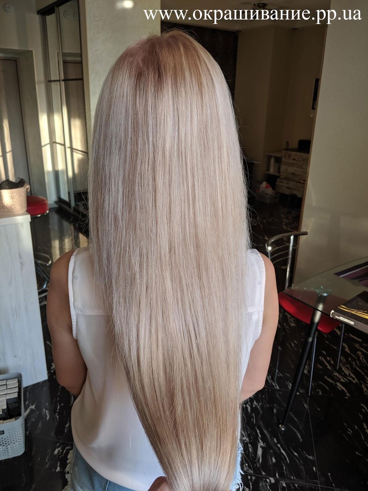 Окрашивание нарощенных волос