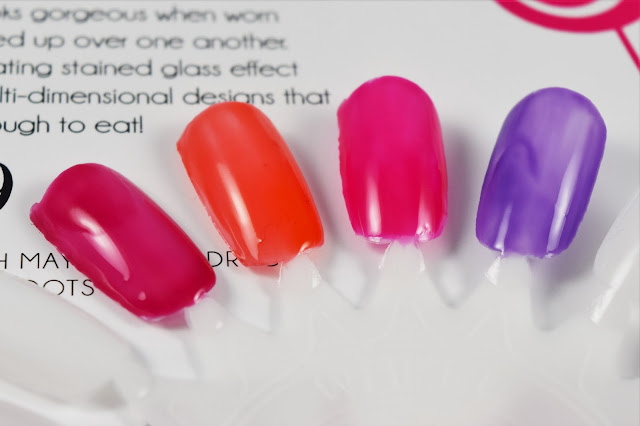 Barry M Lolly Gloss Nail Polish Two Coat Swatches