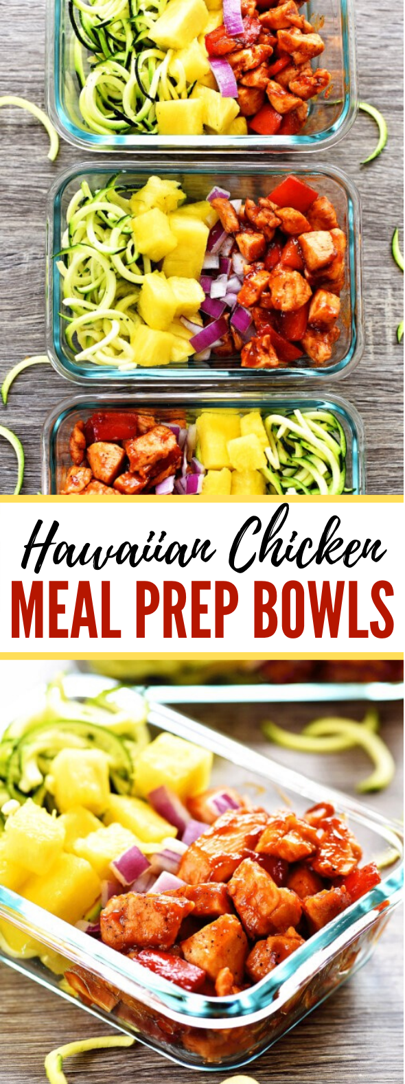 Hawaiian Chicken Meal Prep Bowls #lunch #dinner