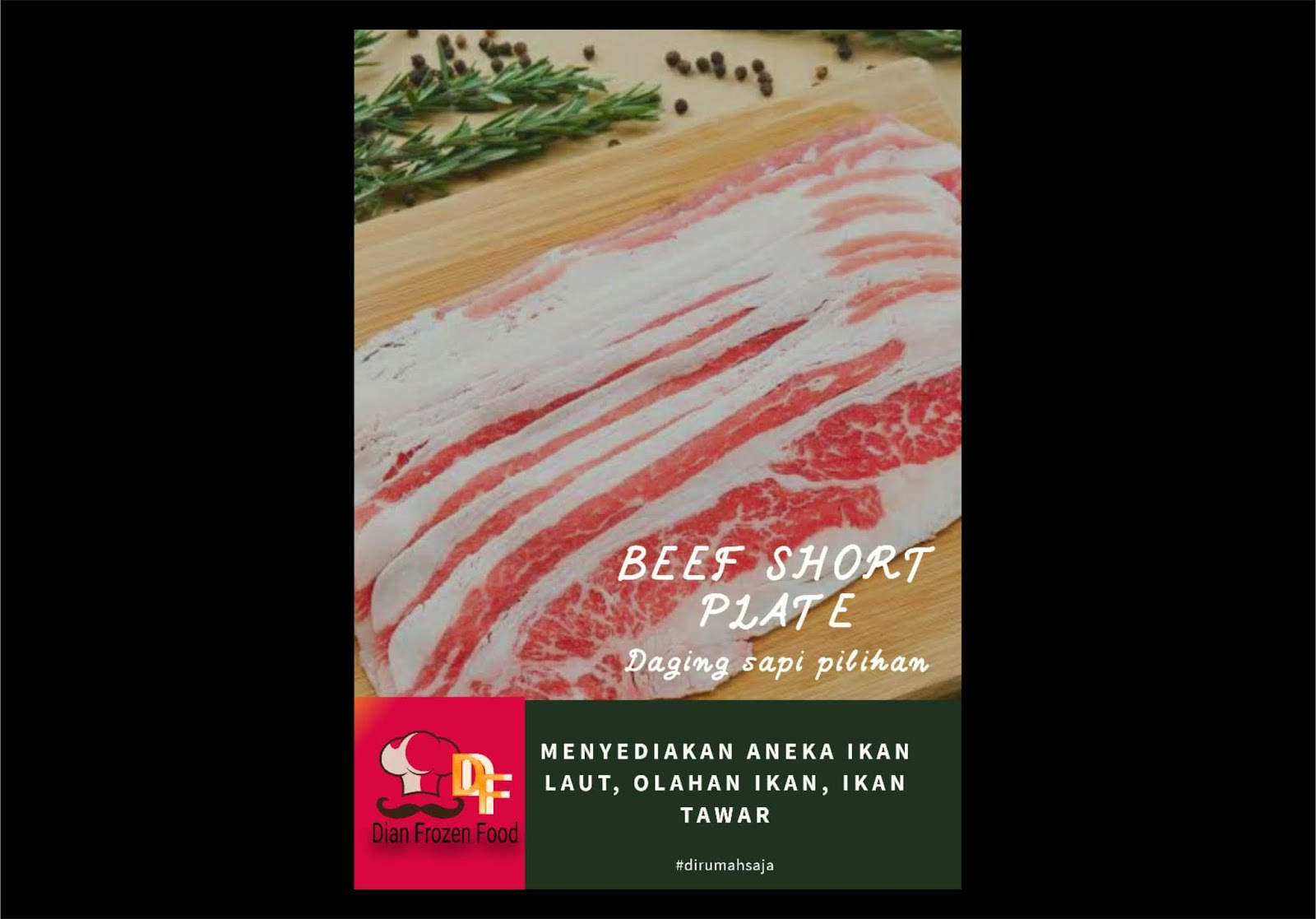 Beef Short Plate 250gr/pack