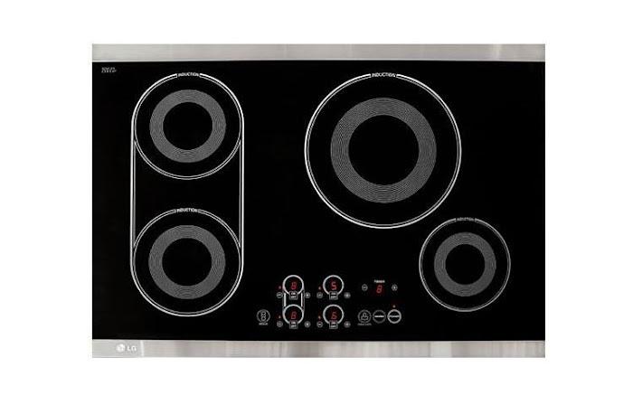 Imagem da superfície do cooktop LG modelo: LCE30845.