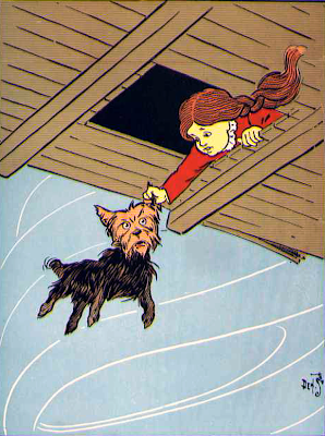 The Wonderful Wizard of Oz Dorothy and Toto Clip Art Image