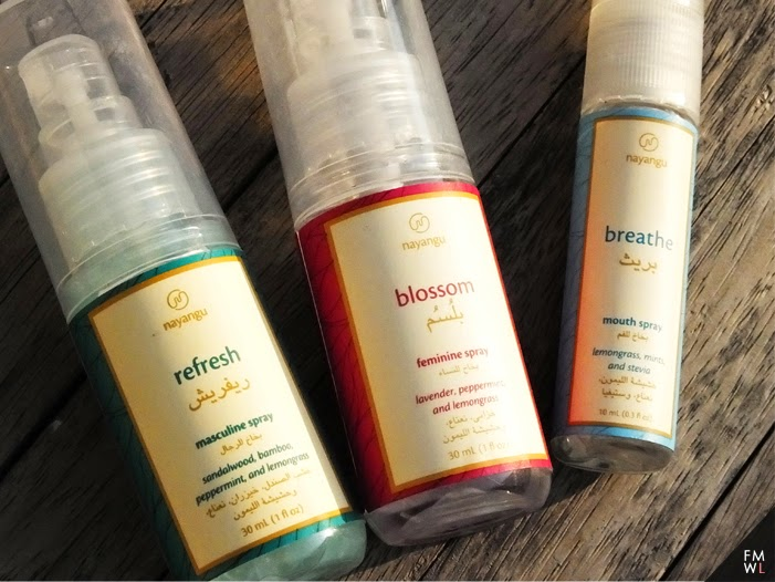 Masculine, Feminine and Breath spray