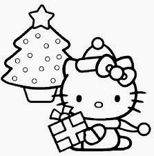 Christmas Hello Kitty Coloring Pages 6