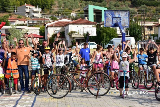 Με επιτυχία η 5η ποδηλατάδα για μικρούς και μεγάλους στα Πυργιώτικα Ναυπλίου  (βίντεο)
