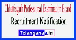 Chhattisgarh Professional Examination Board CGVYAPAM Recruitment Notification 2017