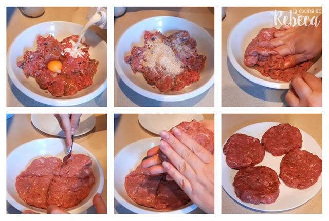 Receta de hamburguesa de capricho ibérico: preparación de las hamburguesas