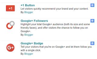 Penghapusan Widget Google+ di Blog