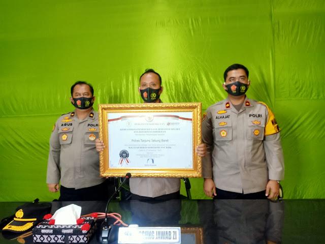 Wilayah Bebas Korupsi, Polres Tanjab Barat Raih WBK Dari Menpan