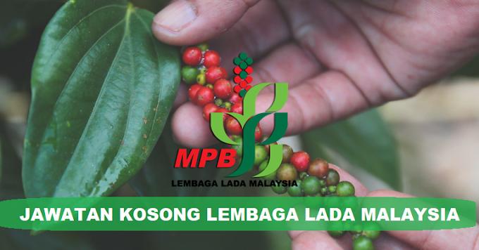 Jawatan Kosong Lembaga Lada Malaysia (LADA) 2021 - Minima PMR/SPM