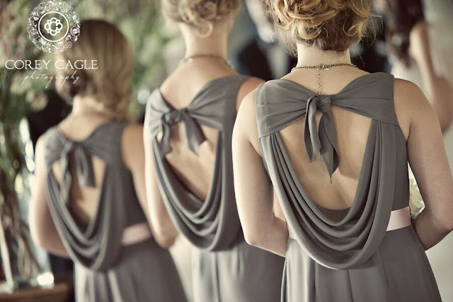 pretty back on bridesmaid dress | Corey Cagle Photography