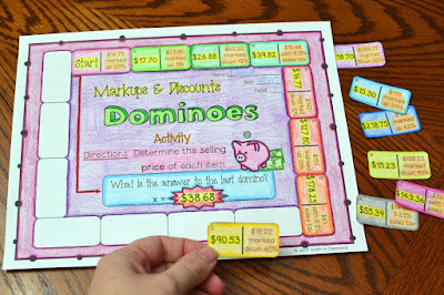 Markups and Discounts Dominoes Activity