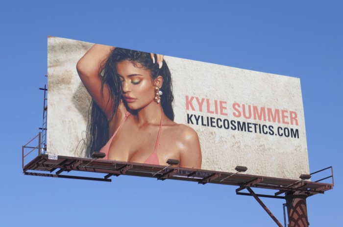 Kylie Summer 2019 Cosmetics billboard