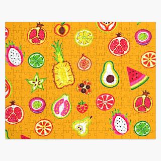 cute fruit pattern jigsaw puzzle