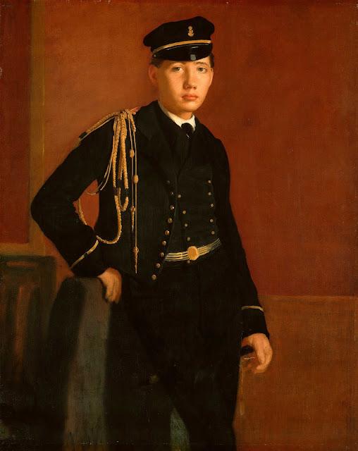 Эдгар Дега - Ашиль де Га в кадетской форме (1856-1857)