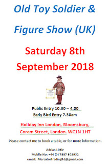 London England by Adrian Little on behalf of Norman Joplin, the Vintage 'Old Toy Soldier & Figure Show' Sponsored by the Old Toy Soldier Newsletter (OTSN)