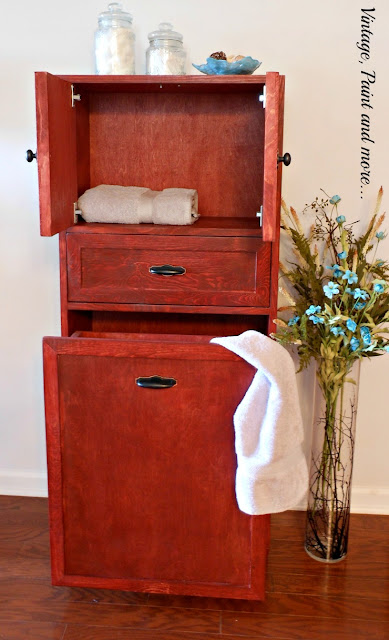 Vintage, Paint and more... inside of DIY multipurpose cabinet