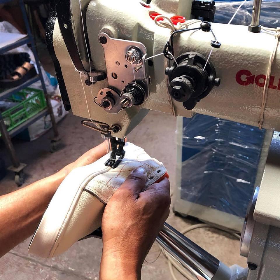 Proceso de fabricación de Kruza zapatillas sustentables chilenas