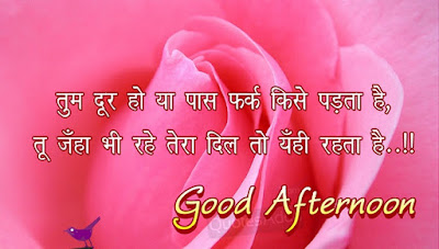Good Afternoon Quotes in Hindi Image