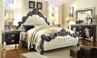 5 Pc HD 1208 Homey Design Victoria Palace Bedroom Set - set kamar tidur berbahan jati halus