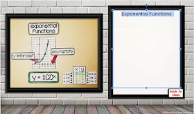 exponential functions on an algebra word wall