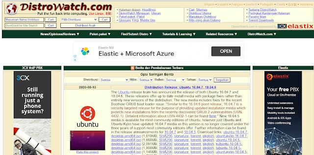 Situs Web Untuk Melihat Semua Catatan Distro Linux Di Seluruh Dunia